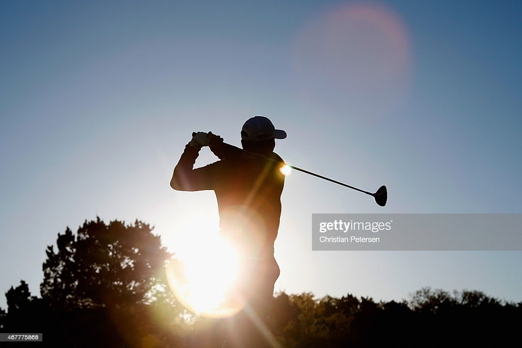<a gi-track='captionPersonalityLinkClicked' href=/galleries/search?phrase=James+Hahn&family=editorial&specificpeople=209338 ng-click='$event.stopPropagation()'>James Hahn</a> tees off on the 11th hole during round two of the Valero Texas Open at TPC San Antonio AT&T Oaks Course on March 27, 2015 in San Antonio, Texas.