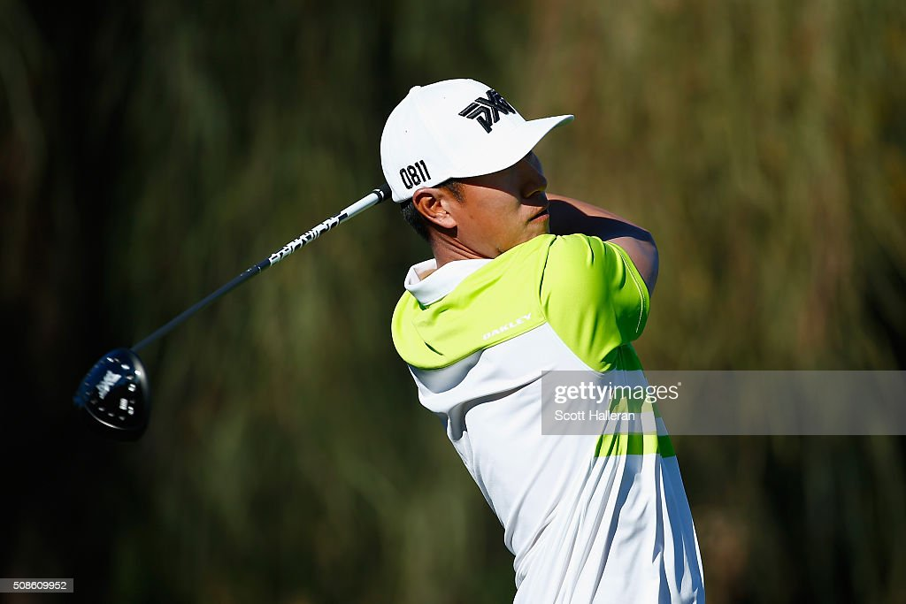 James Hahn tees off on the second hole during the second round of the Waste Management Phoenix Open at TPC Scottsdale on February 5, 2016 in Scottsdale, Arizona.