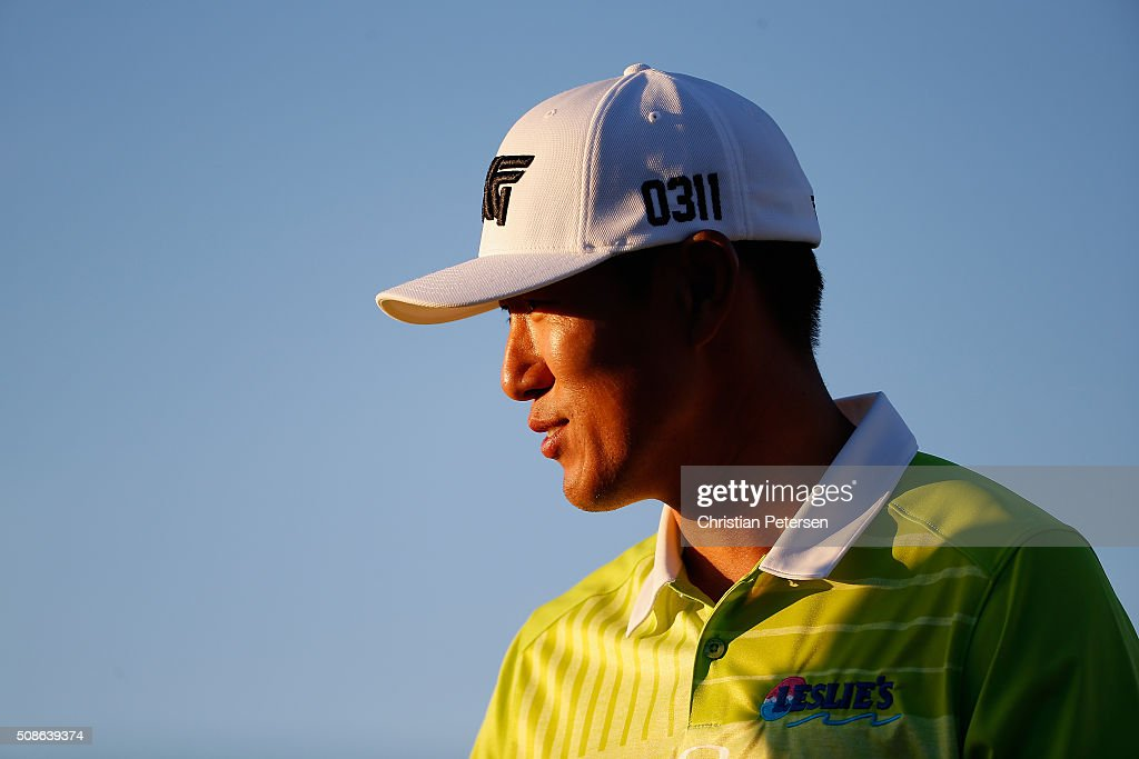 <a gi-track='captionPersonalityLinkClicked' href=/galleries/search?phrase=James+Hahn+-+Golfer&family=editorial&specificpeople=15809875 ng-click='$event.stopPropagation()'>James Hahn</a> walks from the ninth hole during the second round of the Waste Management Phoenix Open at TPC Scottsdale on February 5, 2016 in Scottsdale, Arizona.