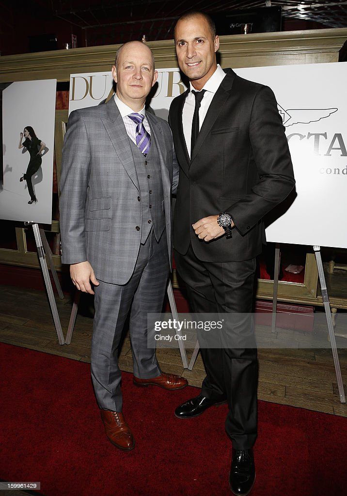James Hancock and <a gi-track='captionPersonalityLinkClicked' href=/galleries/search?phrase=Nigel+Barker&family=editorial&specificpeople=691819 ng-click='$event.stopPropagation()'>Nigel Barker</a> attend DuJour Magazine Gala With Coco Rocha & <a gi-track='captionPersonalityLinkClicked' href=/galleries/search?phrase=Nigel+Barker&family=editorial&specificpeople=691819 ng-click='$event.stopPropagation()'>Nigel Barker</a> Presented by Invicta at Scott Sartiano and Richie Akiva's The Darby on January 23, 2013 in New York City.