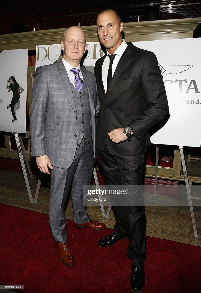 James Hancock and Nigel Barker attend DuJour Magazine Gala With Coco Rocha & Nigel Barker Presented by Invicta at Scott Sartiano and Richie Akiva's The Darby on January 23, 2013 in New York City.