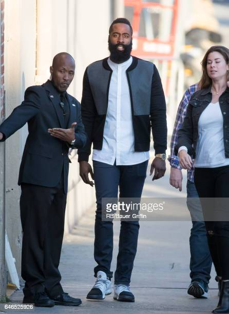James Harden is seen at 'Jimmy Kimmel Live' on February 28 2017 in Los Angeles California