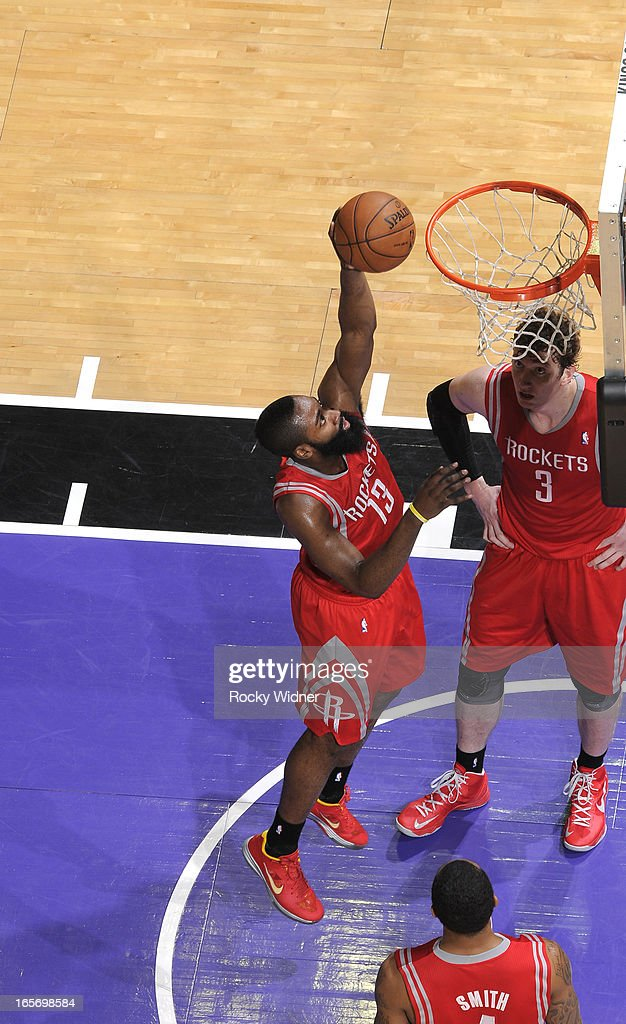 <a gi-track='captionPersonalityLinkClicked' href=/galleries/search?phrase=James+Harden&family=editorial&specificpeople=4215938 ng-click='$event.stopPropagation()'>James Harden</a> #13 of the Houston Rockets drives to the basket against the Sacramento Kings on April 3, 2013 at Sleep Train Arena in Sacramento, California.