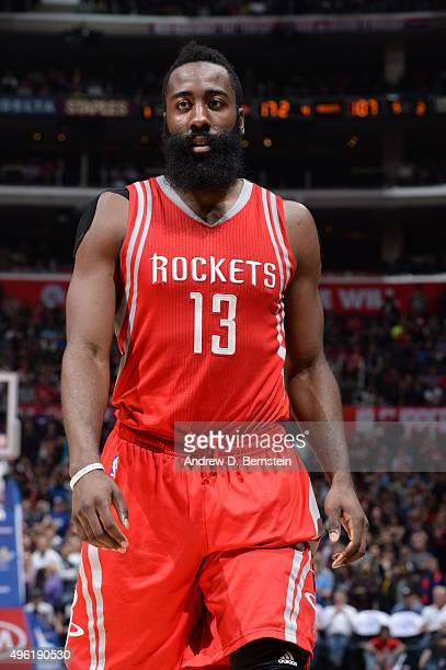 James Harden of the Houston Rockets during the game against the Los Angeles Clippers on November 7 2015 at STAPLES Center in Los Angeles California...