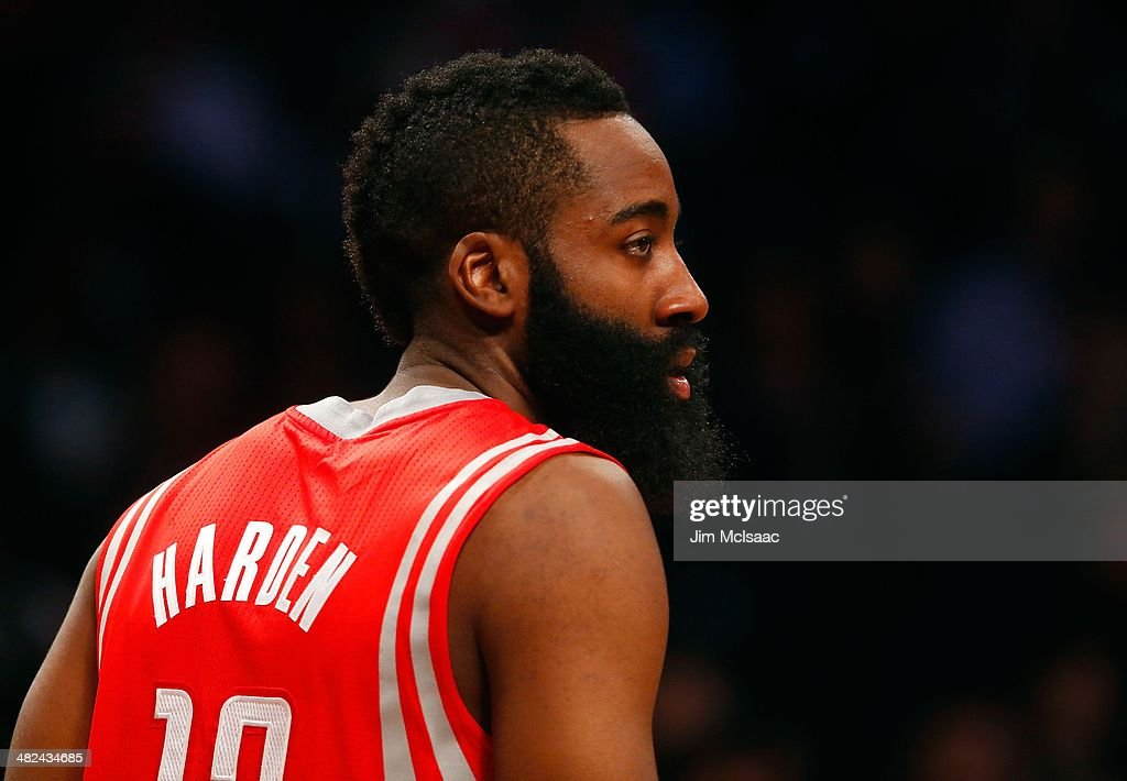 James Harden #13 of the Houston Rockets in action against the Brooklyn Nets at Barclays Center on April 1, 2014 in the Brooklyn borough of New York City.The Nets defeated the Rockets 105-96.
