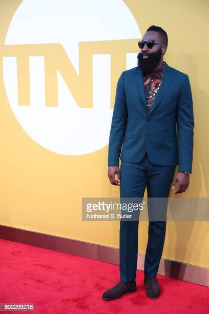 James Harden of the Houston Rockets on the red carpet at the NBA Awards Show on June 26 2017 at Basketball City at Pier 36 in New York City New York...