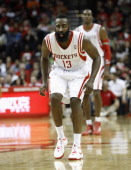 James Harden of the Houston Rockets plays defense against the Los Angeles Clippers at Toyota Center on November 9 2013 in Houston Texas NOTE TO USER...