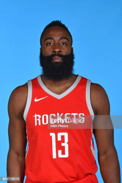 James Harden of the Houston Rockets poses for a head shot during Media Day on September 25 2017 at the Toyota Center in Houston Texas NOTE TO USER...