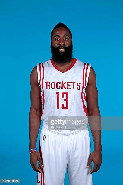 James Harden of the Houston Rockets poses for a photo during Media Day in Houston Texas NOTE TO USER User expressly acknowledges and agrees that by...