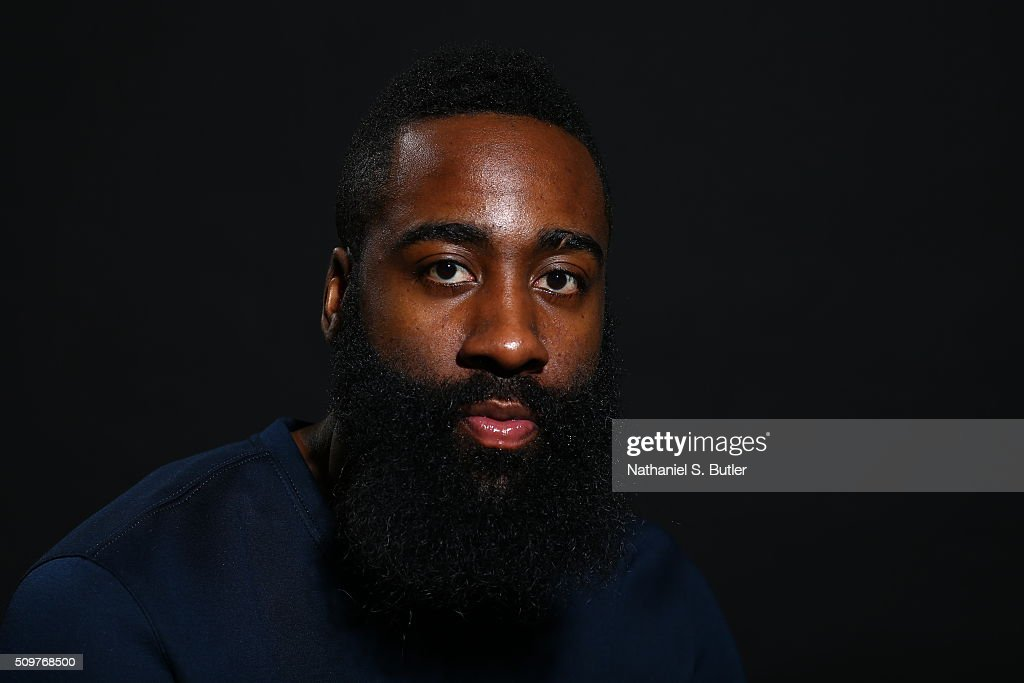 James Harden #13 of the Houston Rockets poses for a portrait on February 12, 2016 at the Sheraton Centre as part of 2016 NBA All-Star Weekend in Toronto, Ontario Canada.