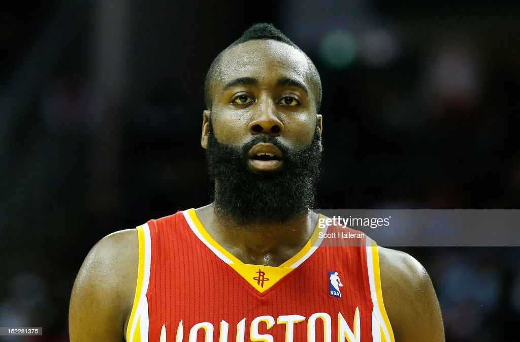 <a gi-track='captionPersonalityLinkClicked' href=/galleries/search?phrase=James+Harden&family=editorial&specificpeople=4215938 ng-click='$event.stopPropagation()'>James Harden</a> #13 of the Houston Rockets walks off the court during the game against the Oklahoma City Thunder at Toyota Center on February 20, 2013 in Houston, Texas.