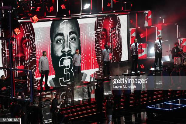 James Harden of the Western Conference AllStar Team gets introduced during the NBA AllStar Game as part of the 2017 NBA All Star Weekend on February...