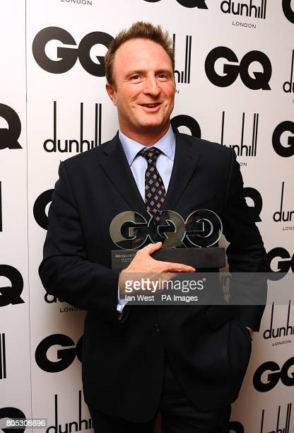 James Harding with his Newspaper Editor award at the 2009 GQ Men of the Year Awards at the Royal Opera House Covent Garden
