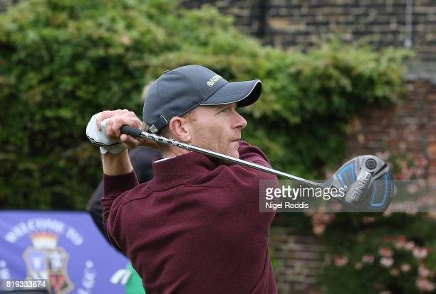 James Harper of Wynyard Golf Club during the Golfbreakscom PGA Fourball Championship North Qualifier at Woodsome Hall Golf Course on July 20 2017 in...