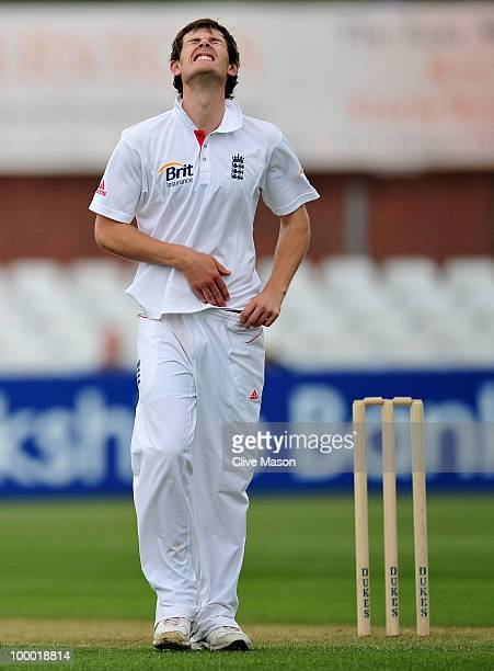 James Harris of England Lions in action bowling during day two of the match between England Lions and Bangladesh at The County Ground on May 20 2010...