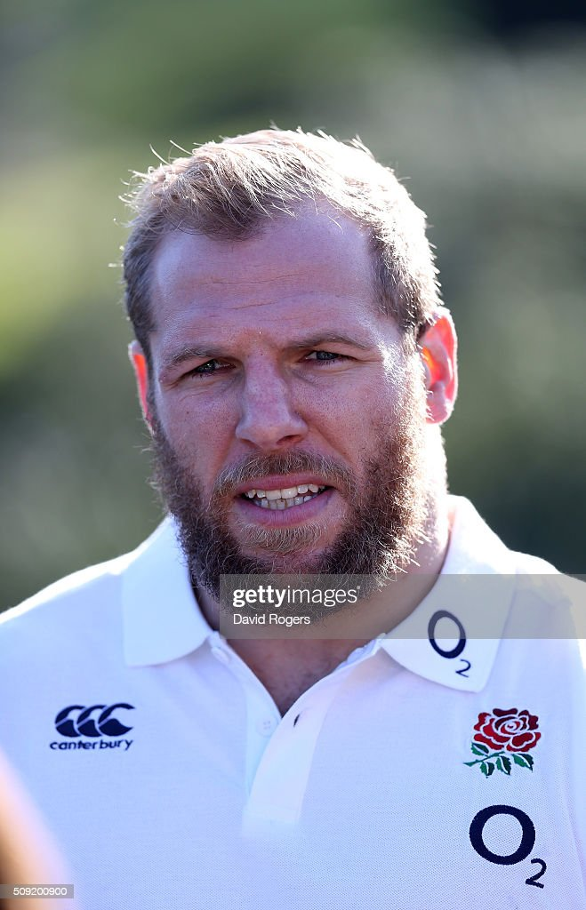 <a gi-track='captionPersonalityLinkClicked' href=/galleries/search?phrase=James+Haskell&family=editorial&specificpeople=539694 ng-click='$event.stopPropagation()'>James Haskell</a>, faces the media during the England media sessiion held at Pennyhill Park on February 9, 2016 in Bagshot, England.
