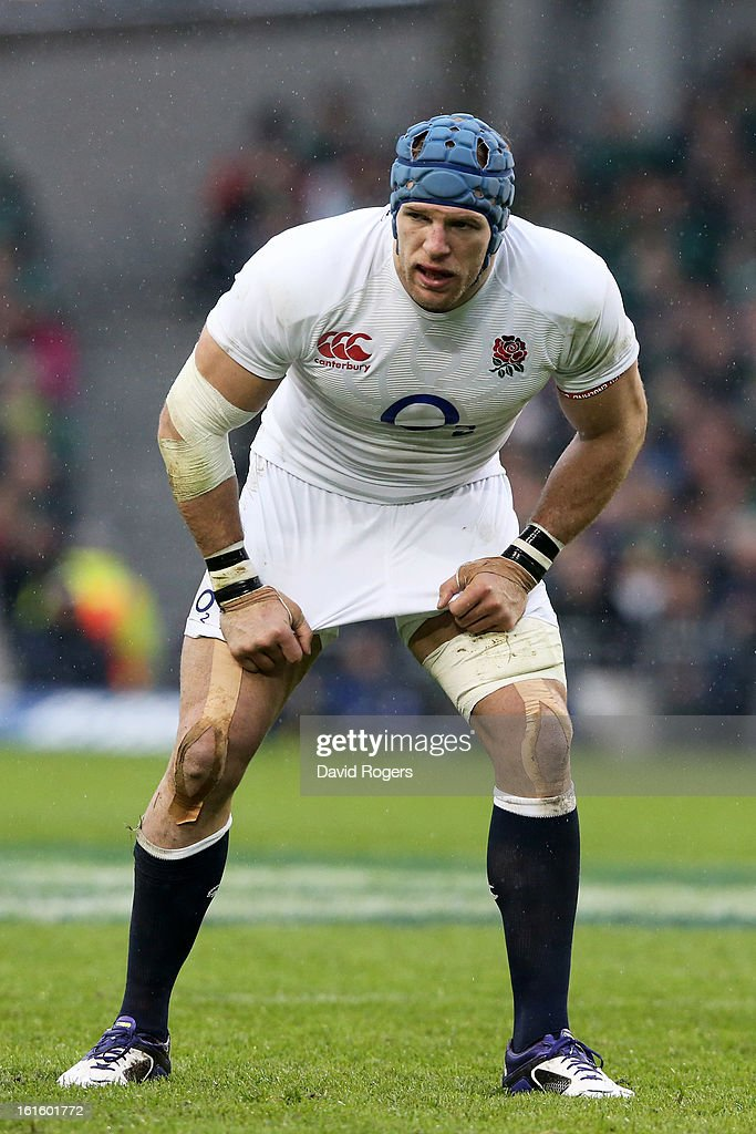 James Haskell of England in action during the RBS Six Nations match between Ireland and England at Aviva Stadium on February 10, 2013 in Dublin, Ireland.