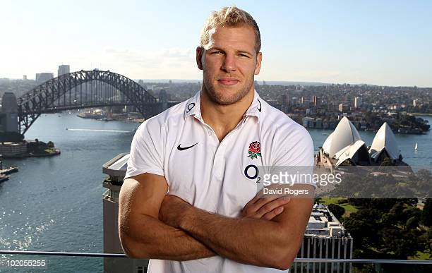 James Haskell of England looks out from the roof of the Intercontinental Hotel over the Sydney Opera House on June 14 2010 in Sydney Australia