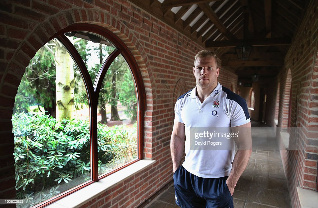 James Haskell poses after a media conference held at Pennyhill Park on February 6, 2013 in Bagshot, England.
