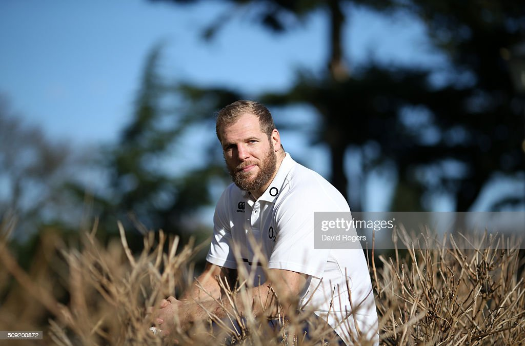 <a gi-track='captionPersonalityLinkClicked' href=/galleries/search?phrase=James+Haskell&family=editorial&specificpeople=539694 ng-click='$event.stopPropagation()'>James Haskell</a>, poses during the England media sessiion held at Pennyhill Park on February 9, 2016 in Bagshot, England.