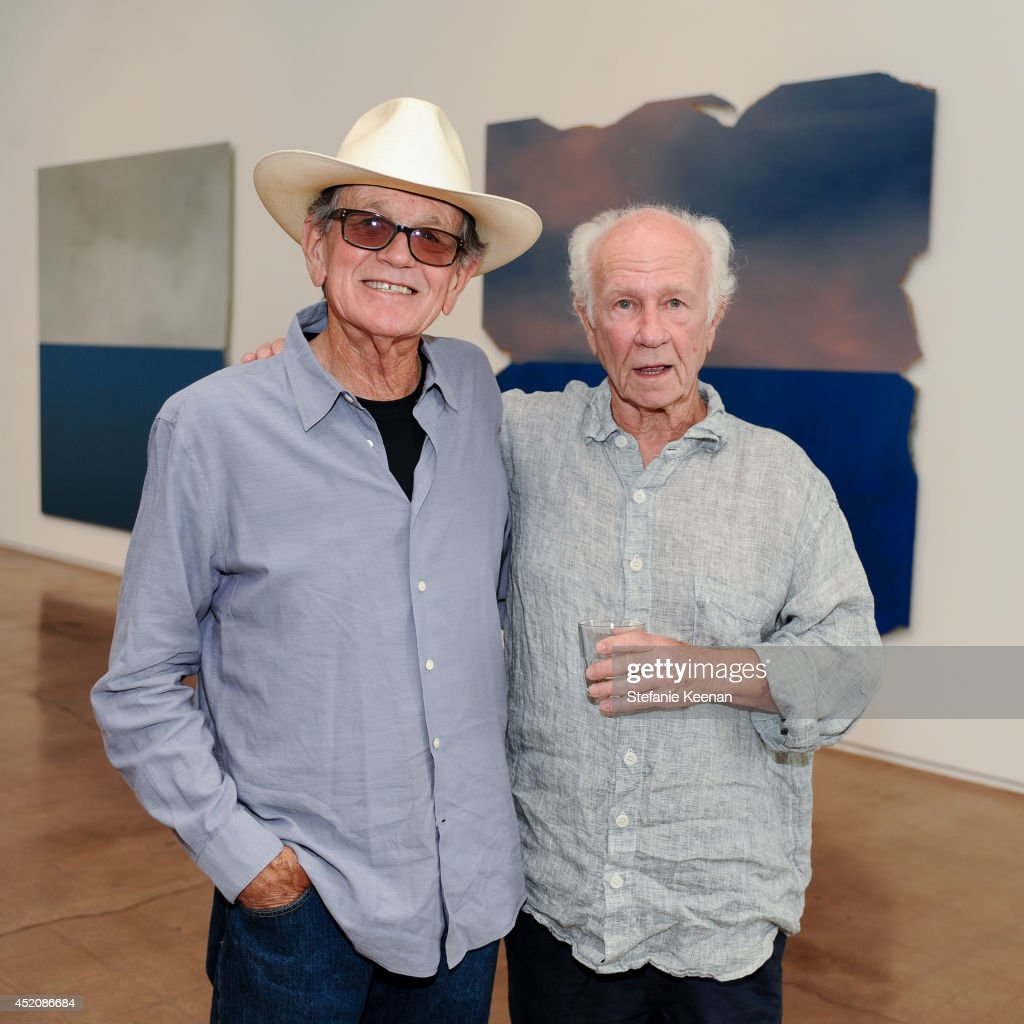 James Hayward and Joe Goode attend Joe Goode 'Flat Screen Nature' on July 12, 2014 in Los Angeles, California.