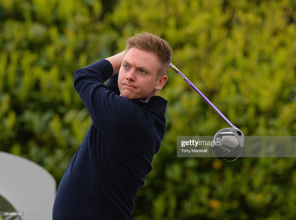 <a gi-track='captionPersonalityLinkClicked' href=/galleries/search?phrase=James+Heath&family=editorial&specificpeople=208172 ng-click='$event.stopPropagation()'>James Heath</a> of Burghill Valley Golf Club plays his first shot on the 1st tee during the PGA Assistants Championships - Midlands Qualifier at the Coventry Golf Club on May 26, 2016 in Coventry, England.