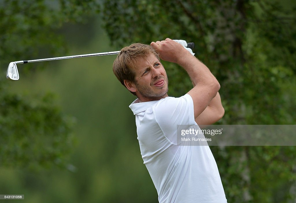 <a gi-track='captionPersonalityLinkClicked' href=/galleries/search?phrase=James+Heath&family=editorial&specificpeople=208172 ng-click='$event.stopPropagation()'>James Heath</a> of England Tee shot at the 10th during the final day of the 2016 SSE Scottish Hydro Challenge at the MacDonald Spey Valley Golf Course on June 26, 2016 in Aviemore, Scotland.