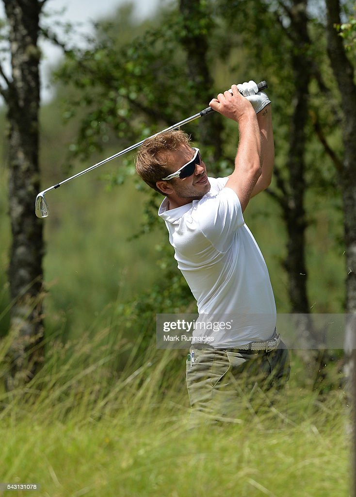 <a gi-track='captionPersonalityLinkClicked' href=/galleries/search?phrase=James+Heath&family=editorial&specificpeople=208172 ng-click='$event.stopPropagation()'>James Heath</a> of England Tee shot at the 4th during the final day of the 2016 SSE Scottish Hydro Challenge at the MacDonald Spey Valley Golf Course on June 26, 2016 in Aviemore, Scotland.