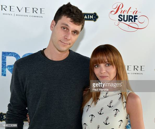 James Heerdegen and Christina Ricci attend the Rooftop @ Revere Launch Party at The Revere Hotel on May 18 2013 in Boston Massachusetts