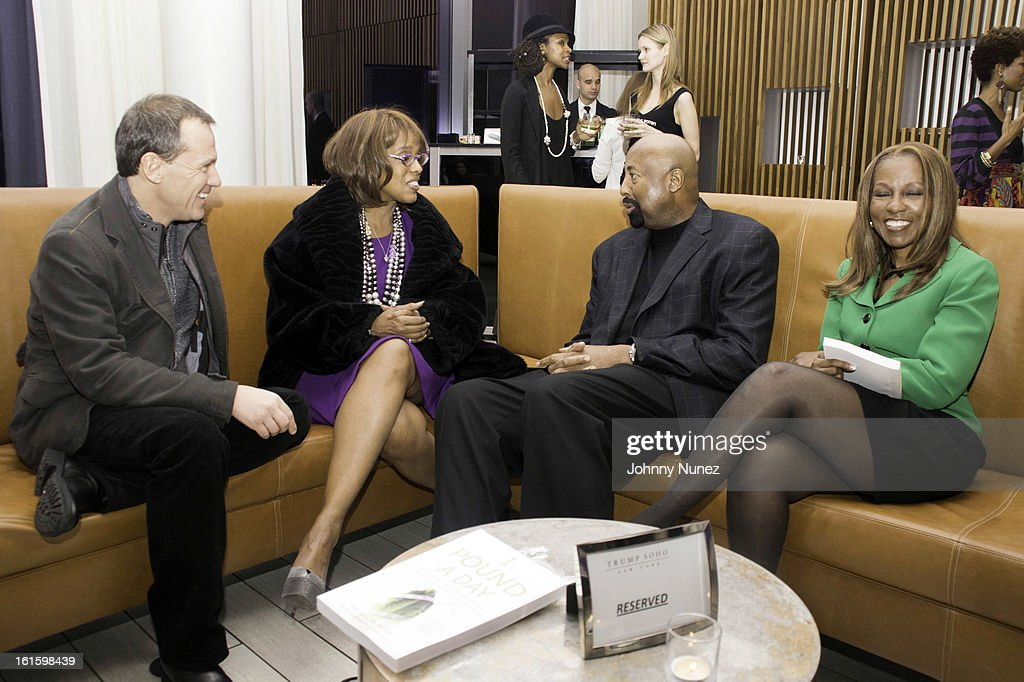 James Hester, <a gi-track='captionPersonalityLinkClicked' href=/galleries/search?phrase=Gayle+King&family=editorial&specificpeople=215469 ng-click='$event.stopPropagation()'>Gayle King</a>, <a gi-track='captionPersonalityLinkClicked' href=/galleries/search?phrase=Mike+Woodson&family=editorial&specificpeople=213194 ng-click='$event.stopPropagation()'>Mike Woodson</a>, and Roni DeLuz attend the '1 Pound A Day: Martha's Vineyard Diet Detox' Pre-Launch Book Party at Trump SoHo on February 11, 2013 in New York City.