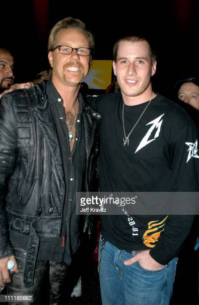 James Hetfield and Brendan Fehr during MTV Icon Metallica Post Party at Universal Studios Stage 6 in Universal City CA United States