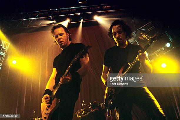 James Hetfield and Kirk Hammett of Metallica performing at Roseland in New York City on November 24 1998