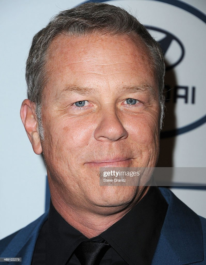 <a gi-track='captionPersonalityLinkClicked' href=/galleries/search?phrase=James+Hetfield&family=editorial&specificpeople=178297 ng-click='$event.stopPropagation()'>James Hetfield</a> arrives at the Clive Davis And The Recording Academy Annual Pre-GRAMMY Gala at The Beverly Hilton Hotel on January 25, 2014 in Beverly Hills, California.