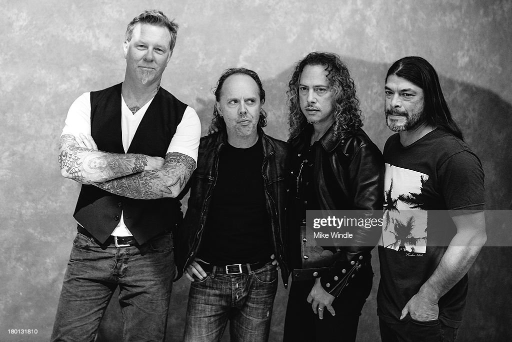 <a gi-track='captionPersonalityLinkClicked' href=/galleries/search?phrase=James+Hetfield&family=editorial&specificpeople=178297 ng-click='$event.stopPropagation()'>James Hetfield</a>, <a gi-track='captionPersonalityLinkClicked' href=/galleries/search?phrase=Lars+Ulrich&family=editorial&specificpeople=209281 ng-click='$event.stopPropagation()'>Lars Ulrich</a>, <a gi-track='captionPersonalityLinkClicked' href=/galleries/search?phrase=Kirk+Hammett&family=editorial&specificpeople=204665 ng-click='$event.stopPropagation()'>Kirk Hammett</a> and <a gi-track='captionPersonalityLinkClicked' href=/galleries/search?phrase=Robert+Trujillo&family=editorial&specificpeople=213071 ng-click='$event.stopPropagation()'>Robert Trujillo</a> of Metallica pose for a portrait during the 2013 Toronto International Film Festival on September 9, 2013 in Toronto, Canada.