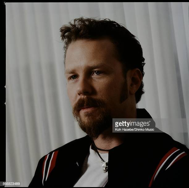 James Hetfield Metallica in photo session at a hotel unknown May 1996