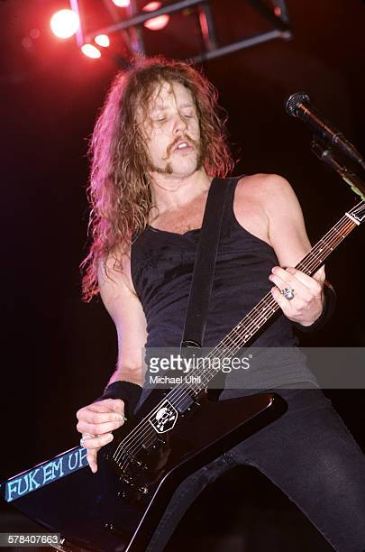 James Hetfield of Metallica at the Brendan Byrne Arena in East Rutherford New Jersey on July 21 1989