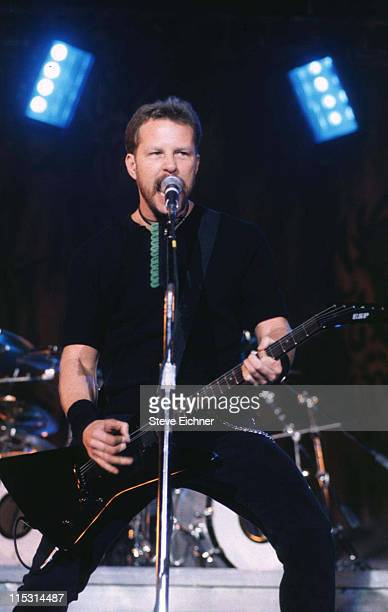 James Hetfield of Metallica during Lollapalooza 1996 at Downing Stadium Randall's Island in New York City at Downing Stadium Randall's Island in New...