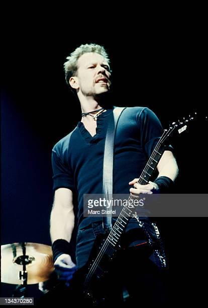 James Hetfield of Metallica during Metallica In Concert at San Francisco 3Com Park in San Francisco California United States