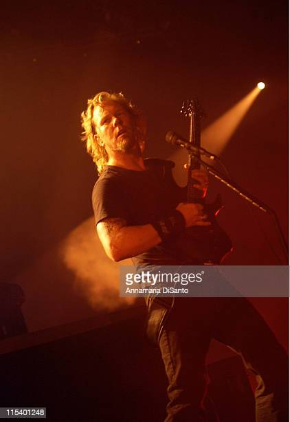 James Hetfield of Metallica during Metallica Live Tour 2004 Los Angeles at Los Angeles Forum in Los Angeles CA United States