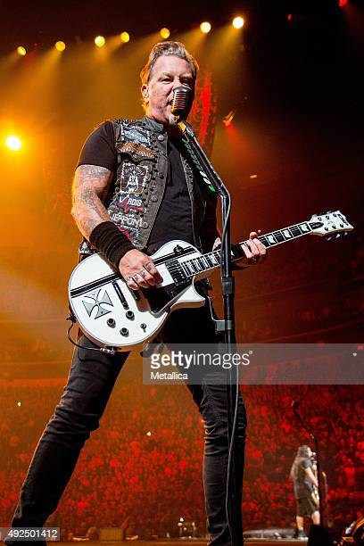 James Hetfield of Metallica performing at Centre Videotron on September 16 2015 in Quebec City Canada