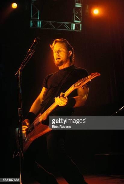 James Hetfield of Metallica performing at Roseland in New York City on November 24 1998