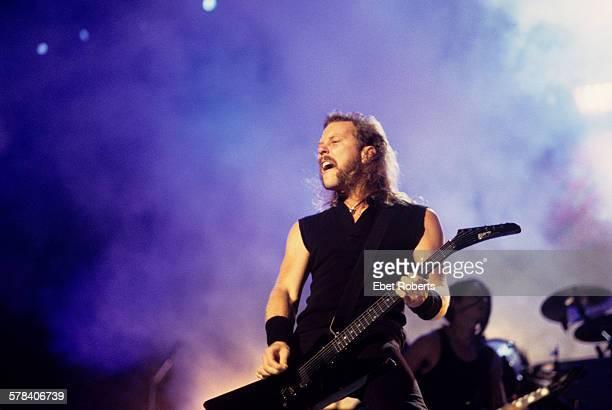 James Hetfield of Metallica performing at Woodstock 94 in Saugerties New York on August 13 1994