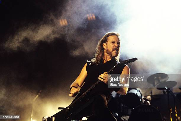 James Hetfield of Metallica performing at Woodstock 94 in Saugerties New York on August 13 1994