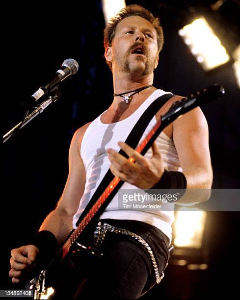 James Hetfield of Metallica performs as part of Lollapalooza 1996 at Winnebago County Fairgrounds on June 30 1996 in Rockford Illinois