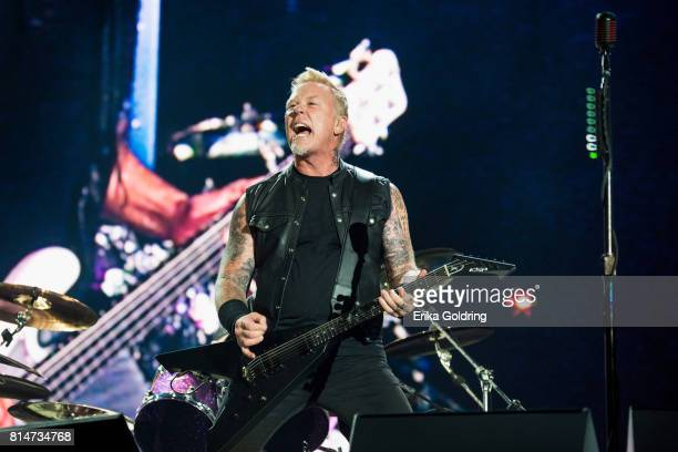 James Hetfield of Metallica performs at Festival d'ete de Quebec on July 14 2017 in Quebec City Canada