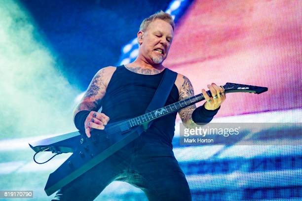 James Hetfield of Metallica performs at Parc JeanDrapeau on July 19 2017 in Montreal Canada
