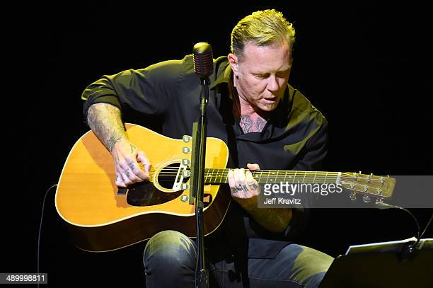 James Hetfield of Metallica performs at the 2014 10th annual MusiCares MAP Fund Benefit Concert at Club Nokia on May 12 2014 in Los Angeles California