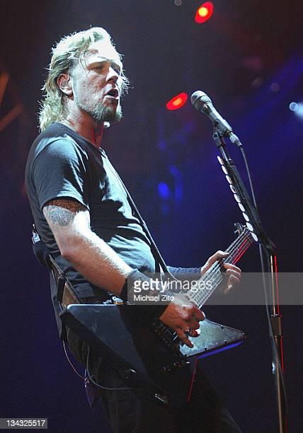 James Hetfield of Metallica performs at the Forum in Inglewood CA