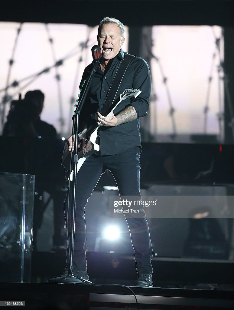 James Hetfield of Metallica performs onstage during the 56th GRAMMY Awards held at Staples Center on January 26, 2014 in Los Angeles, California.