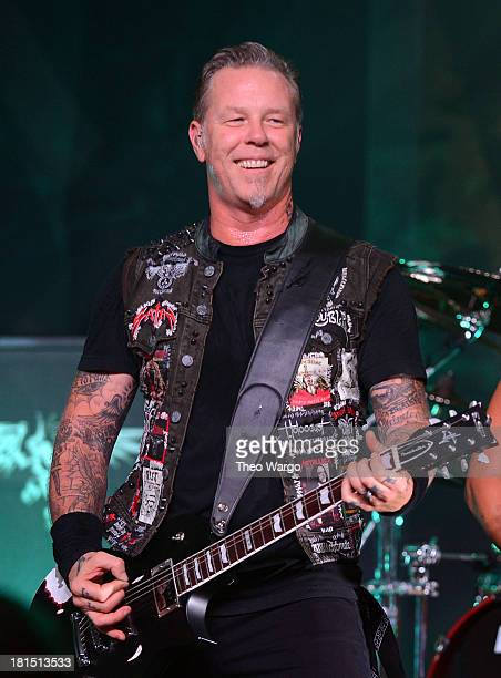 James Hetfield of Metallica performs private exclusive concert for SiriusXM listeners at The Apollo Theater on September 21 2013 in New York City